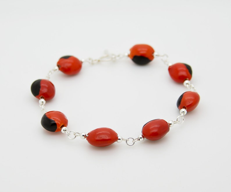Peruvian Huayruro Bracelet Unique Red Beaded Bracelet For Mom Good Luck Bracelet for Daughter/'s Birthday Eco-Friendly Jewelry For Her