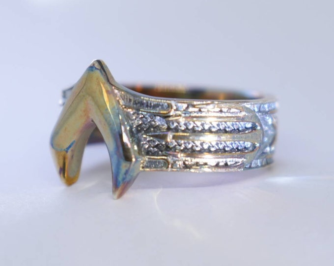 Surgical Steel Aquaman inspired Atlantis Armor Ring after Jason Momoa