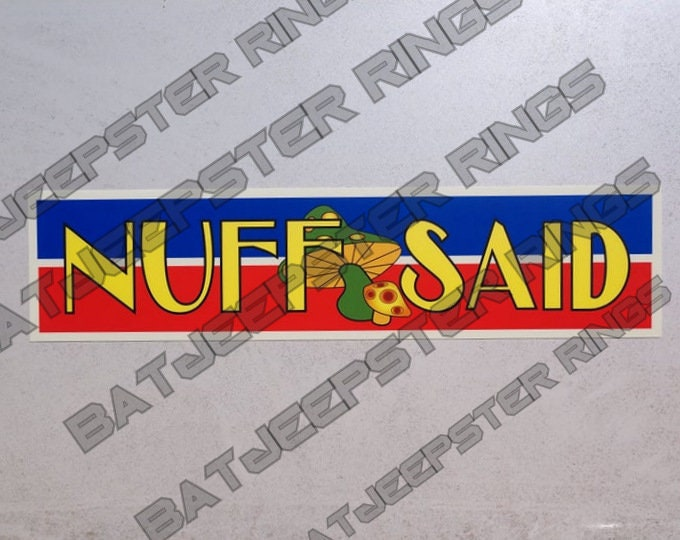 Custom made Stan Lee Bumper Sticker from Avengers Endgame 11.5 X 2.75""