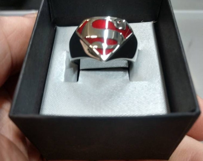 Officially licensed DC comics Superman ring size 10