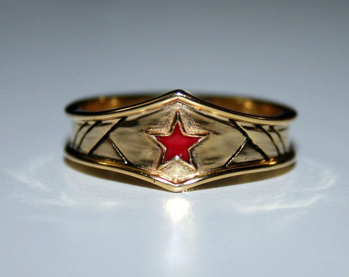 Custom Wonder Woman Inspired Tiara Ring in Sterling Silver