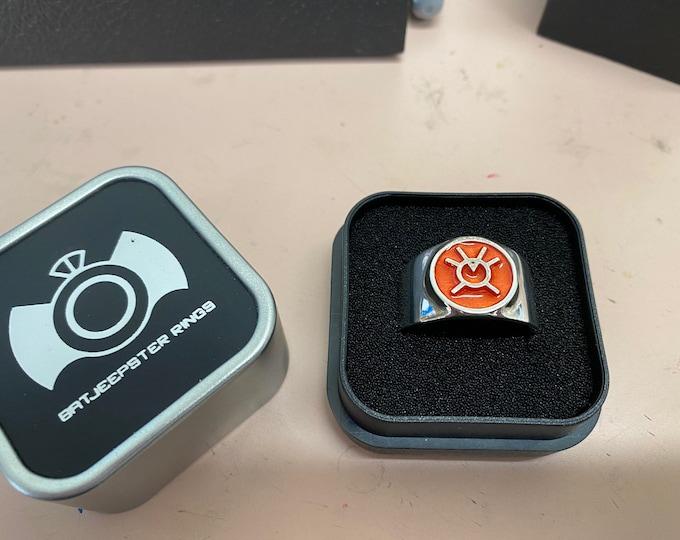 Orange Lantern ring Avarice sz 10 last one