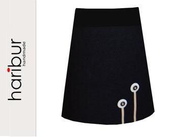 black skirt walk skirt