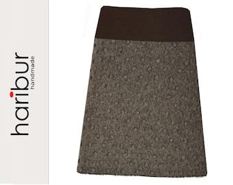 Skirt wool skirt pimples felt skirt nugat-brown