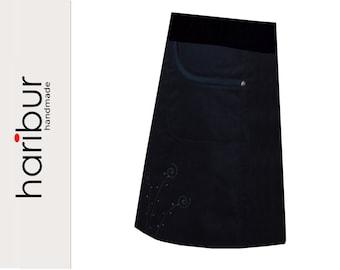 ROCK Feincord bags black