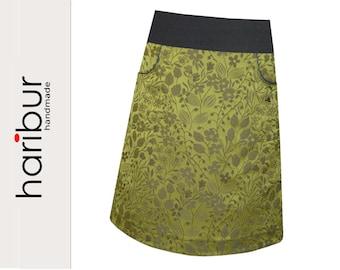 Dream skirt, jacquard skirt bags, haribur, olive