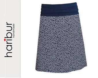 Summer skirt viscose blue