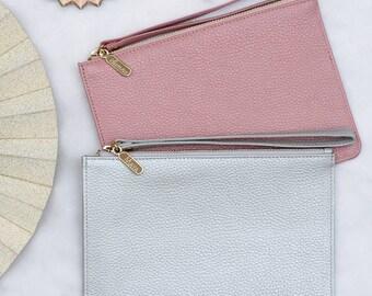 Personalised Luxury Leather Wrist Strap Clutch Bag (HBL21/135Y)