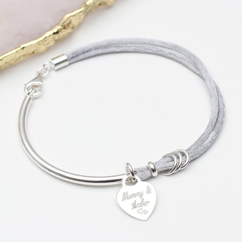 b70ebafb2583b Personalised Silk And Sterling Silver Bangle
