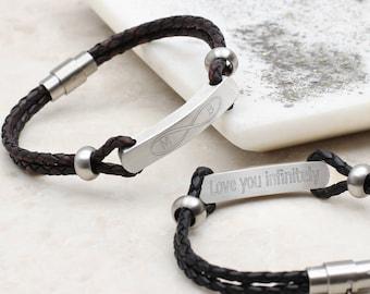 Men's Infinity Secret Message ID Bracelet