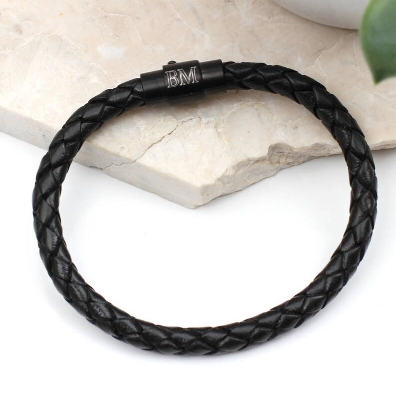bcb921382fb00f Limited Edition Ruthenium Personalised Clasp Bracelet 21cm   Etsy