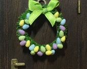 Handmade Easter wreath 1:12 scale