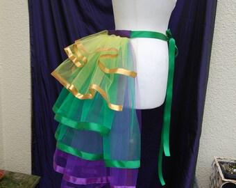 Mardi Gras Burlesque Net Bustle in Purple e6484770e