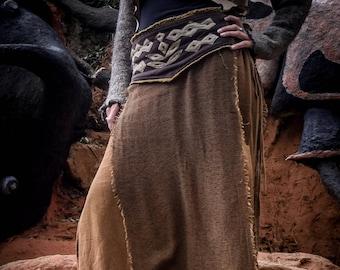 Amazing shamanic skirt for men and women,  cotton and gauze boho  skirt, psychedelic festival skirt, wild maxi skirt, long skirt