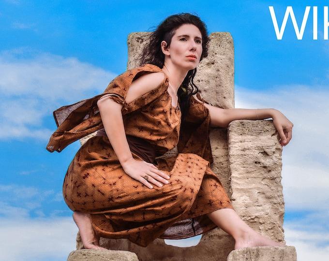 Featured listing image: Ritual Wicca dress, Shamanic Shipibo dress, halloween Costume dress, Ayahuasca psychedelic dress