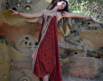Dream fairy Dress, Shamanic Shipibo dress, goddess dress, Gypsy bohemian dress, Ayahuasca dress, Shipibo lace dress, psychedelic dress
