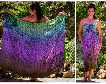 Shipibo pareos, sarong, pareo, fashion scarves, sacred geometry, shipibo dresses, beach sarong, Gifts for her, Psychedelic Ayahuasca sarong