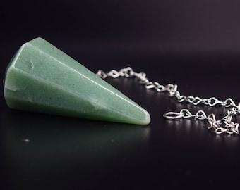 Veritable Aventurine Pendulum,  pendulum, Aventurine from brazil, ask your pendulum, ideas for gift, divination pendulum