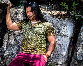 Shipibo t shirt, Earth Colors, Sacred Geometry, Ayahuasca clothes, Psychedelic Clothes, Entheogen clothes, Shamanic cothes
