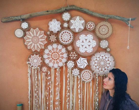 Big Dream catcher, Bed Headboard, Luxury decoration, dreams, attrape rêves, xamanism