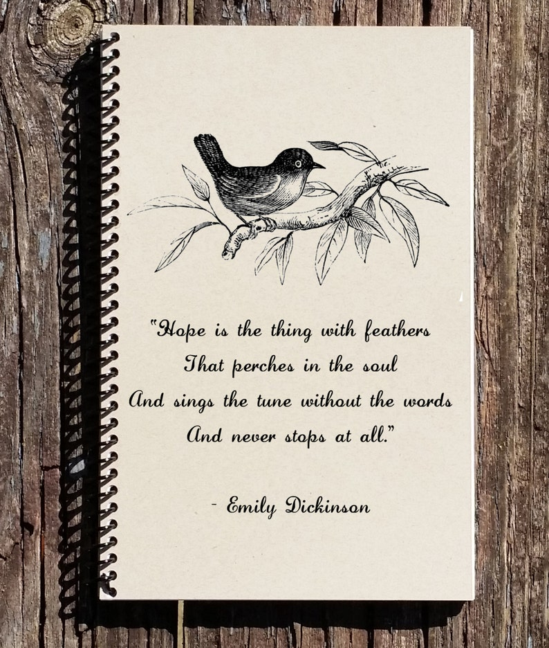 Emily Dickinson Quote Hope Is The Thing With Feathers Etsy