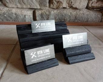 Multiple Business Card Holders, Business Card Displays,  Gift Card Holder, Office Decor,  Desk Accessories, Card Display, Black - set of 3