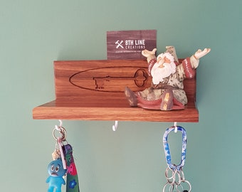 Wall Key Rack , Key Rack , Key Holder, Gift Idea, Home Decor, Wall decor, Keys , Walnut, Key Hooks