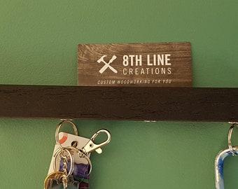 "Magnetic Key Holder , Wall Mounted Key Holder, Key Organizer, Key Rack, Key Holder, black  9"", Wall Decor, Home Decor"