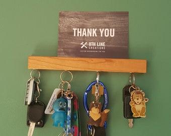 "Magnetic Key Holder , Wall Mounted Key Holder , Key Holder For Wall , Key Rack, Key Holder, Cherry 9"", Wall Decor, Home Decor"
