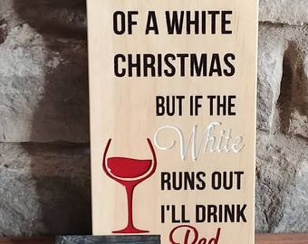 Christmas Wine Lover Sign  - Holiday sign, Christmas Sign, Wine Sign, Cedar Sign, carved signs