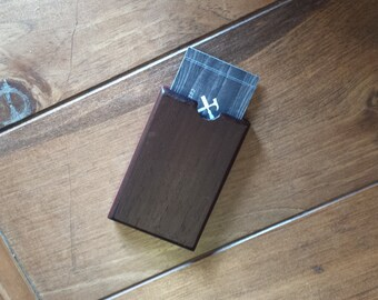 Business Card Holder, Wood Business Card Case, Pocket card holder, Wood Card Holder, business card case, Card Holder, gift - Peruvian Walnut