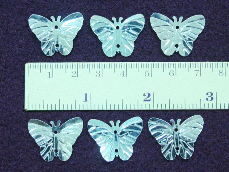 50 \u2022 Metallic Blue Butterfly Sequins