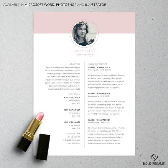 Creativo mínimo 3 Página curriculum vitae plantilla para