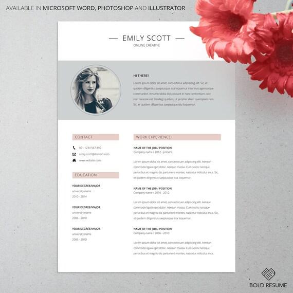 3 creativa página curriculum vitae plantilla para Microsoft