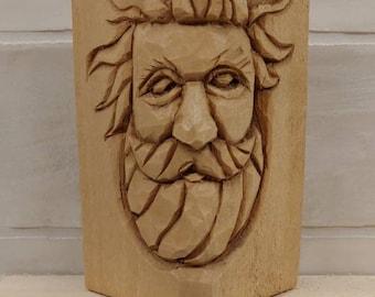 Wood carved Spirit Face