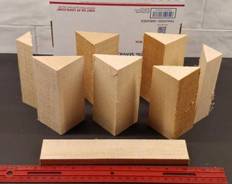 Box full of Basswood Triangular Carving Blanks