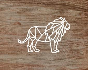 Polygonal Lion Decal