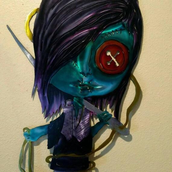 Metal Wall Art Coraline Voodoo Doll Goth Girl Goth Doll Etsy