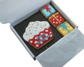 Personalised card, birthday cookies