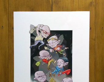Fairy dust-up / Giclee print / A3 297 x 420mm