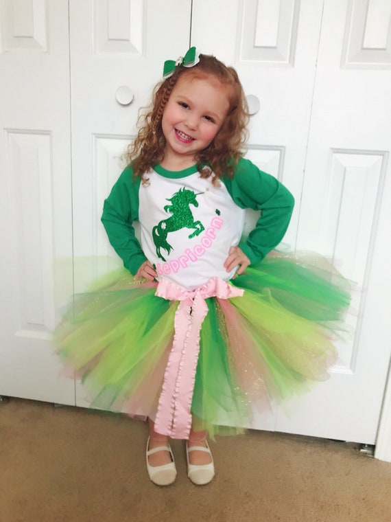 Personalized First St 1st Holiday Outfit Patrick/'s Day Tutu Outfit Irish