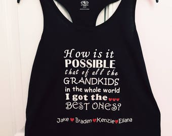 Personalized Grandma T-shirt