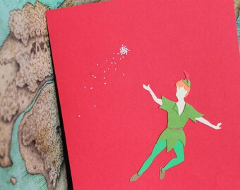 Peter Pan : Fantasy PaperScapes, Handmade, Disney, Peter Pan, Framed Papercut Art