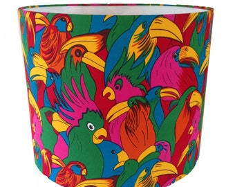 Parrot Bird Print Handmade Lampshade Light Shade Tropical Lamp base