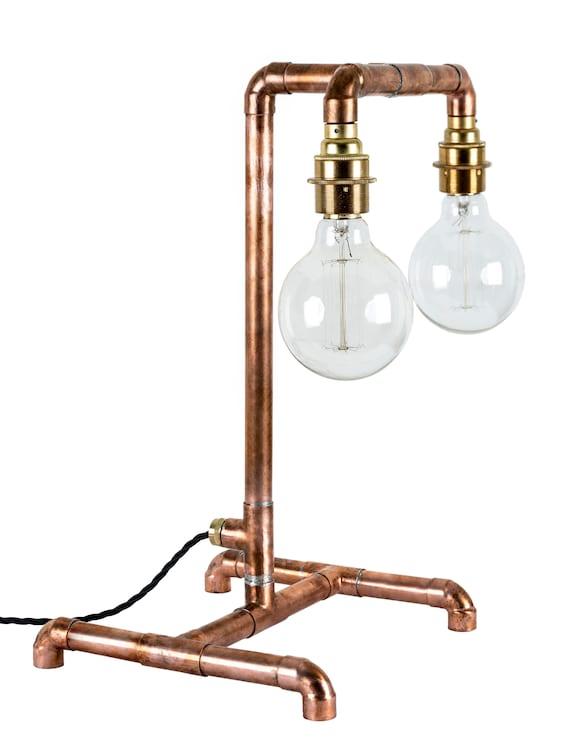 COPPER PIPE LIGHT Edison Bulb Table