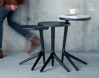 The Tripod Table - Charcoal Ash