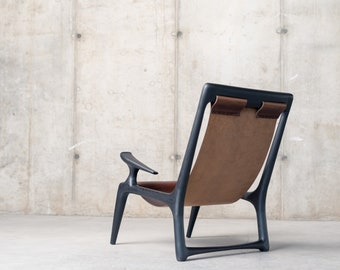 The Sling Chair - Charcoal Ash & Black or Brown Leather