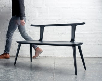 Oxbend Bench - Charcoal Ash Black