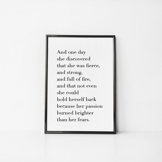 And One Day She Discovered Mark Anthony Digital Printable Etsy