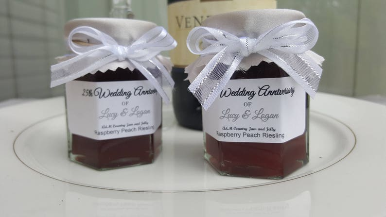 25th Anniversary Party Favors Jam Favors Adult Birthday